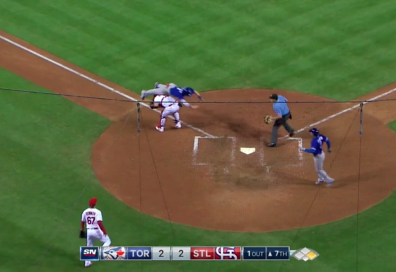Blue Jays' Chris Coghlan Dive and Roll