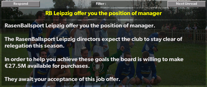RB Leipzig Job Offer