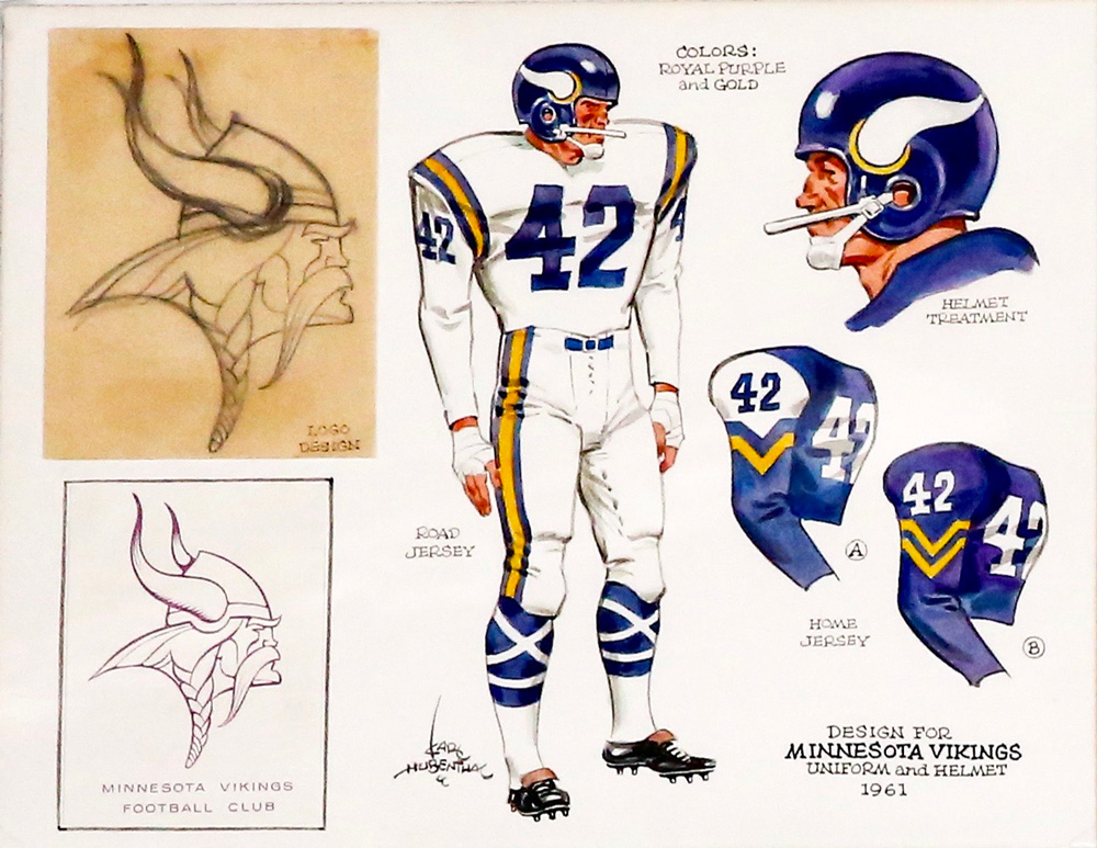 minnesota vikings design by Karl Hubenthal
