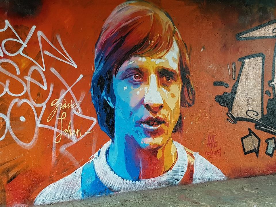 Johan Cruijff graffiti
