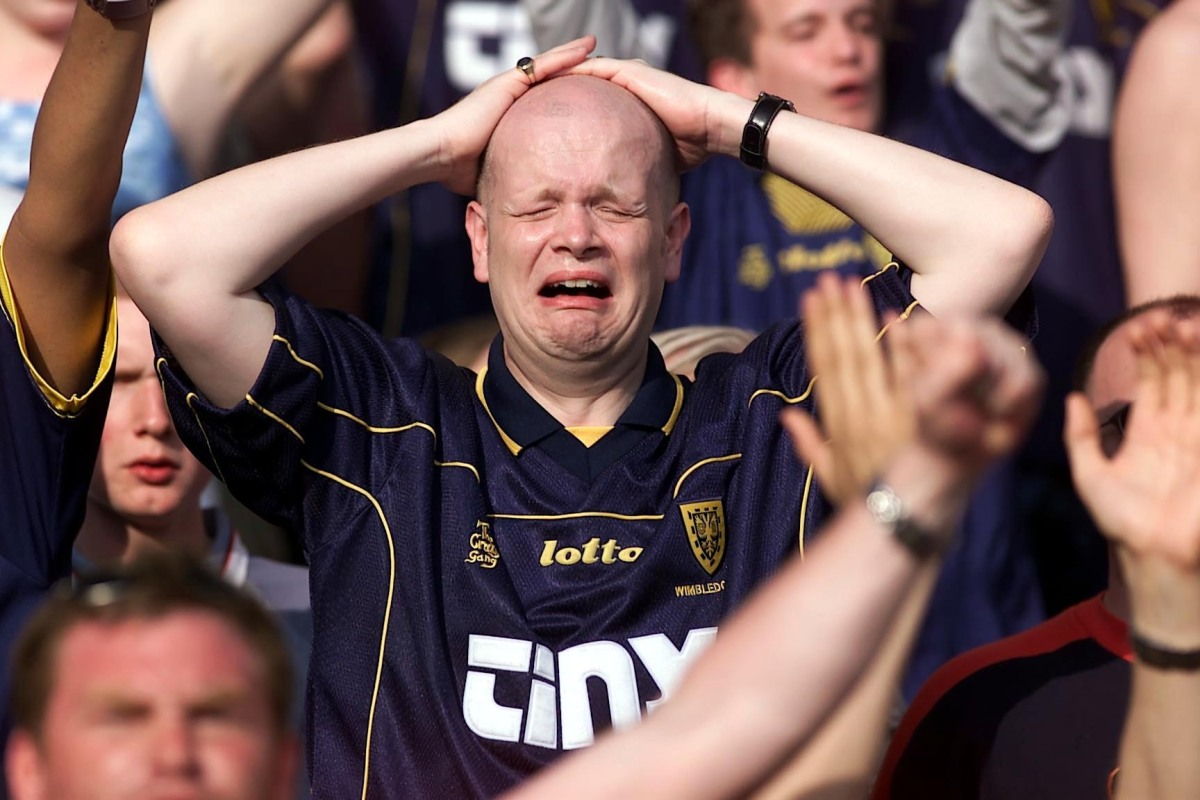 A sad Wimbledon fan