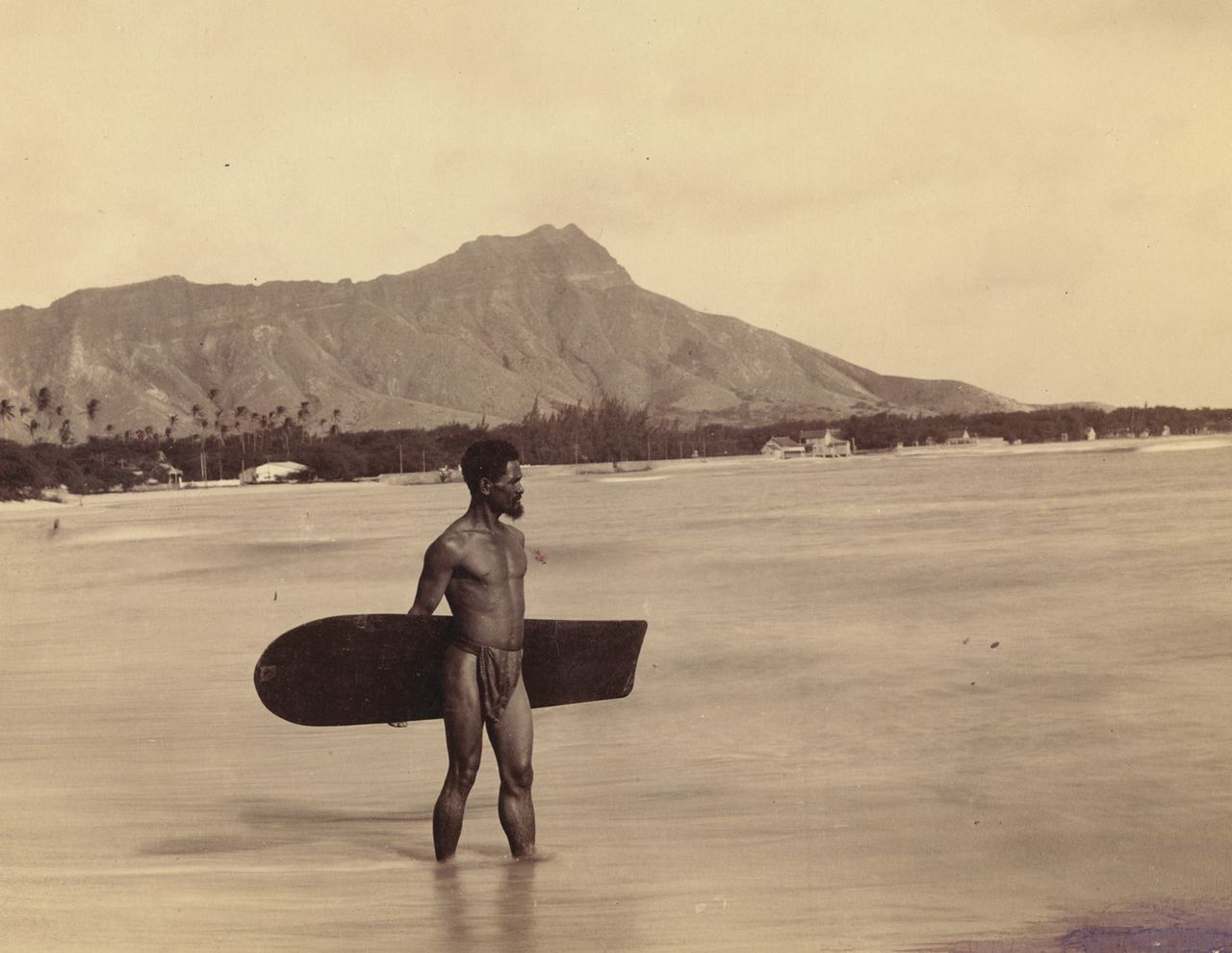 A Hawai'ian surfer