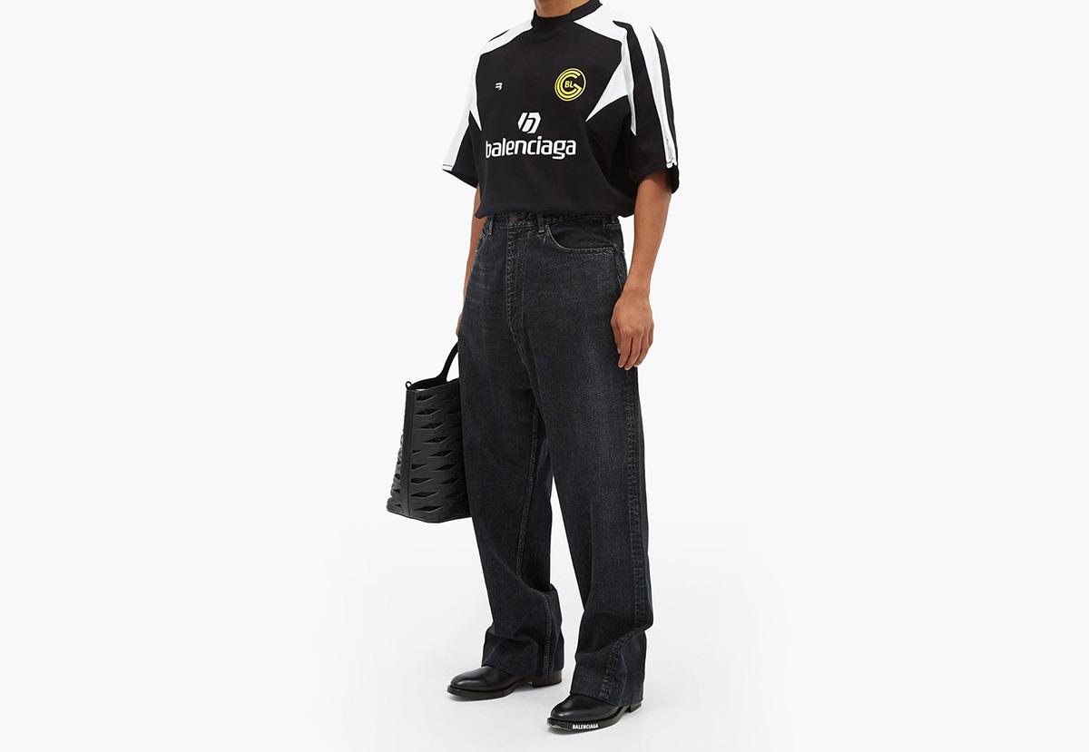 "Balenciaga's football shirt ""homage"""