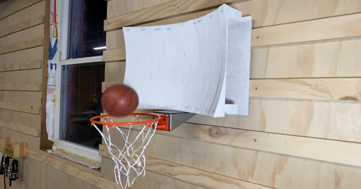 The basketball hoop that never lets you miss