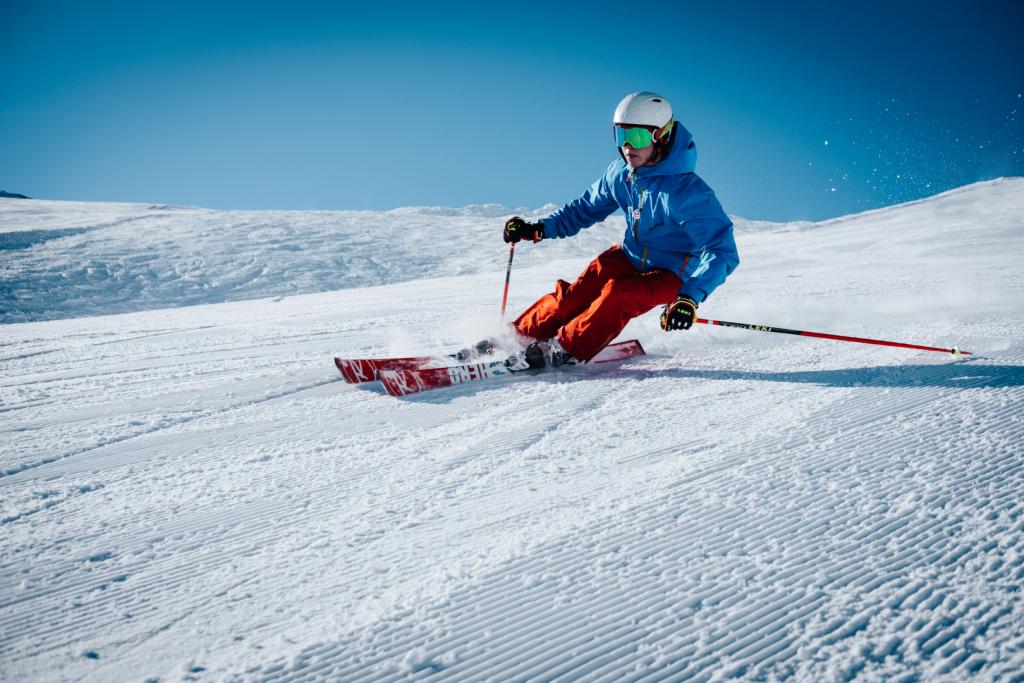 Someone skiing