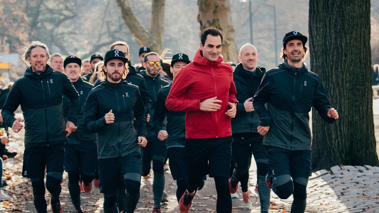 roger federer running